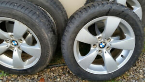 "NEW PRICE!  BMW 5 SERIES 17"" RIMS AND WINTER TIRES"