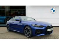 2021 BMW 4 Series 420d MHT M Sport 2dr Step Auto [Pro Pack] Diesel Coupe Coupe D