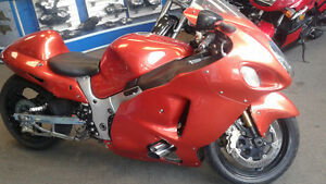 suzuki gsxr 1300 hayabusa turbo charged and stretched