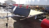 2015 Aluminum 2 Place Sled Trailer with front shield