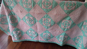 REDUCED: Vintage Quilt - Pink and Teal Kitchener / Waterloo Kitchener Area image 1