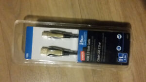 STAPLES USB CABLE 24kt gold 11ft