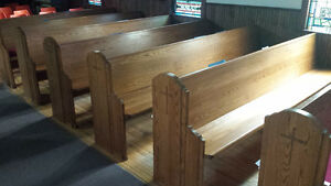 Solid Oak Church Pews