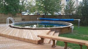 What a Christmas gift for the kids - 23' round Aqua Bois pool