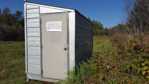 All Galvanized steel shed 6x10x 8high with door storage shed