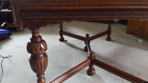 Antique Dining Table with Four Chairs (one Captain) Kingston Kingston Area image 3