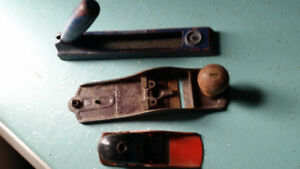 3 Old Wooden Handle Plane/File Tools