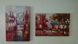Lot of two paintings