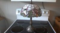 Small Tiffany stain glass lamp