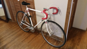 Nishiki Road Bike (white with red stripes)
