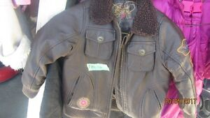 Boys Leather Like Size 4 Brown Jacket