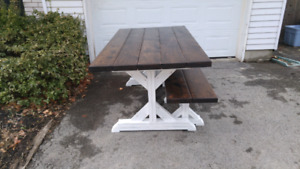 Custom Furniture - Farmhouse Tables and Benchs