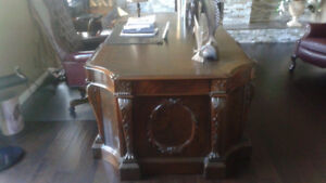 Mahogany desk with leather chair