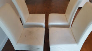 Chaises blanches cuir Structube chairs white leather
