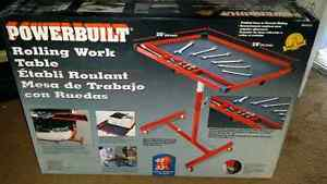 Mechanic rolling work table for tools