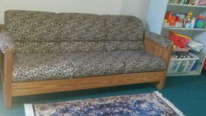 Solid Pine couch and chair