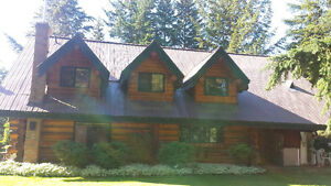 Available Nov 1st 4 br 2 ba custom log home on 80 private acres