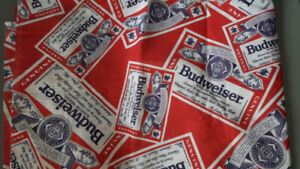 BUDWEISER SEWING FABRIC #2- BRAND NEW MATERIAL!
