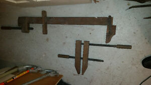 2 old wooden clamps Price 20.00