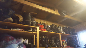 15 to 20 pairs of ski and snowboard boots. Need gone
