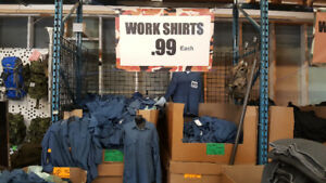 Surplus Work Shirts  $1. Each