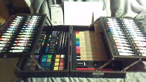 Art 101, 158 piece Painting and Sketching Kit In Wood Case