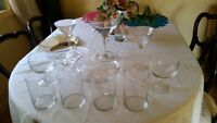 glassware for a candy Table