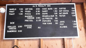 Food and beverage sign