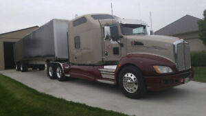 2011 Kenworth T660 Studio Sleeper with 2013 Mac Tandem  Trailer