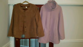 Ladies jacket and fleece size 30 as new condition.
