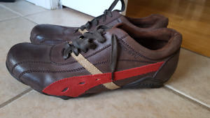Bedstu  Leather mens casual lace ups size 11