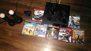 Ps3+ps move and ps eye+25 games+3 controllers need sold asap Cambridge Kitchener Area image 1