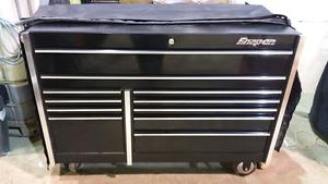 Snap On tool box, with cover, custom top and t-shirt