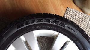 Mags (4) roues Mercedes avec pneus d'hiver Bridgestone Blizzac