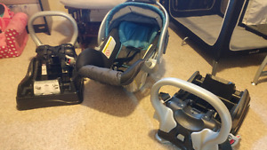 Baby Trend Expedition CLX CAR SEAT with 2 compatible bases