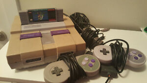 Super Nintendo Console With Contents
