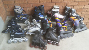 Many Rollerblades (all sizes)