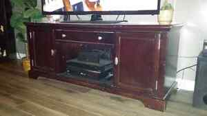 Huge cherry tv stand fits tv 60+