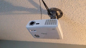 Projector screen amp and speakers