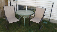 Free table and patio chairs!