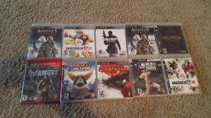 10 ps3 games for 30$ for all