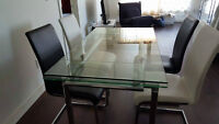dining table with 4 chairs from structube , negotiable price