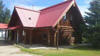 Large log house in Slave Lake for rent