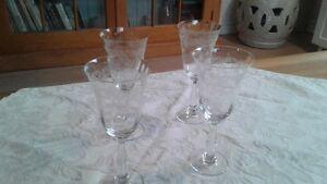 4--Crystal etched wine glasses Kingston Kingston Area image 5
