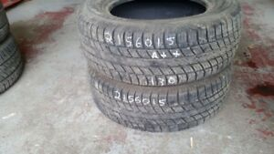 Pair of 2 Uniroyal Tiger Paw 215/60R15 tires (90% tread life)
