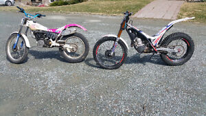 1992 ty  250  and 2014 gasgas Trials bikes