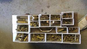 SOLID BRASS 3/8 to 1/2 various lengths bolts