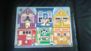 Melissa and Doug Door Latches Puzzle Board