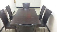 Table Set and 6 Chairs. Delivery Available