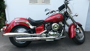 2007 Pristine Red Yamaha Vstar Classic 650cc for SALE!